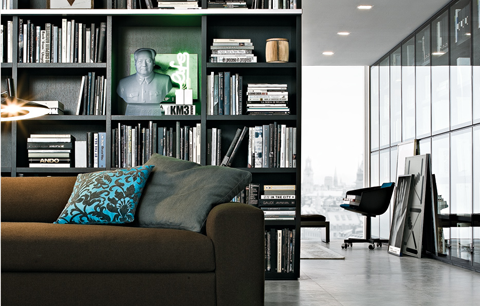 Wall System | Bookcases | Bedrooms | Mayfield Design | Poliform